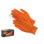 Rękawica antypoślizgowa pomarańczowa L 100 szt. TREX GRIP TRIUMF