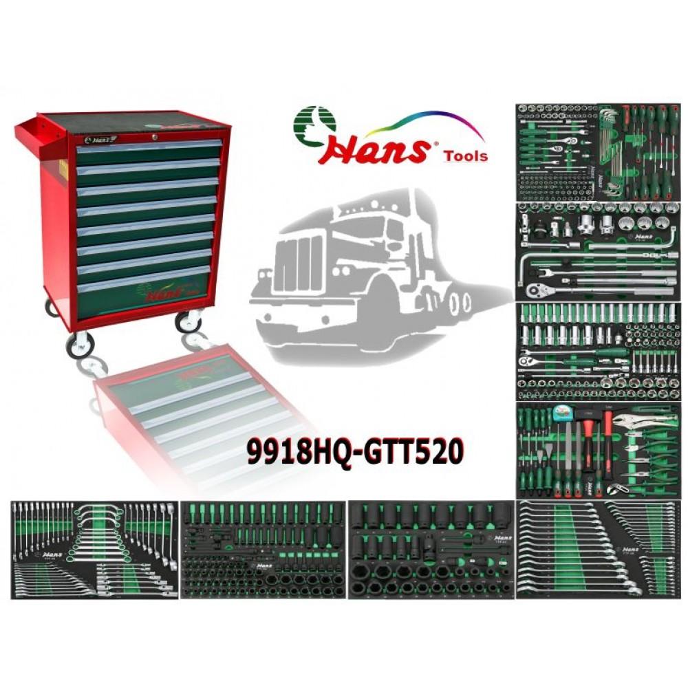 Wózek narzędziowy 8 szuflad z wyposażeniem 520 elementów TRUCK HANS TOOLS