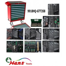 Wózek narzędziowy 8 szuflad z wyposażeniem 358 elementy HANS TOOLS