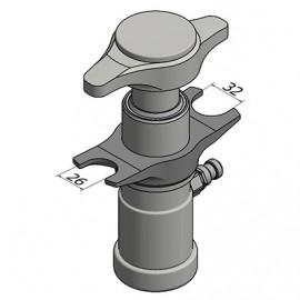 Ściągacz sworzni kulowych hydrauliczny , 4,5 ton zakres 26/32 mm WALLMEK