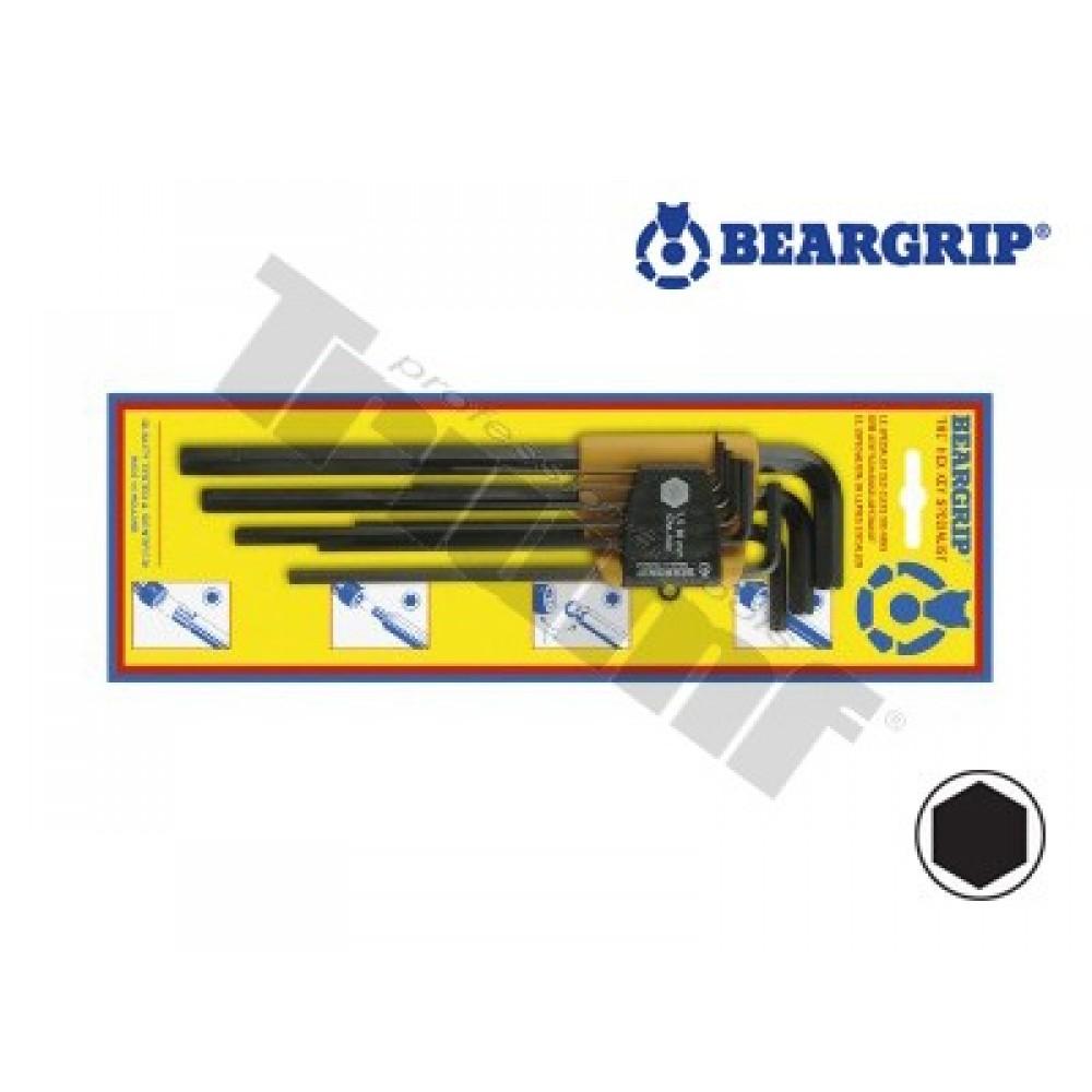 "Zestaw kluczy Imbus typ ""L"" 1,5 - 10 mm SWING-PAC BEARGRIP"