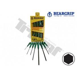 Wkrętaki IMBUS 2-10 mm 8 części BEARGRIP