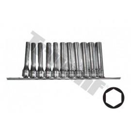 Zestaw nasadek długich 1/2 8-19 mm 120mm 11 części TRIUMF PROFESSIONAL