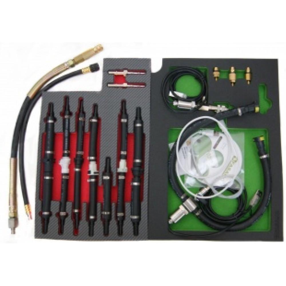 Tester ciśnienia paliwa CR 0-2500 BAR i sprężania Zi, Zs 0-80 BAR, MASTERSET FASANO TOOLS