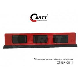 Półka magnetyczna z otworami do wózków