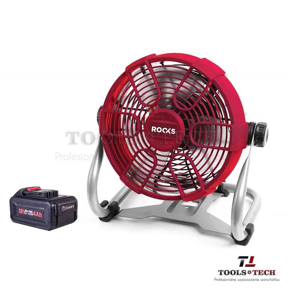 Wentylator chłodzący 18v aq-one, 230 mm, kpl z baterią i ładowarką