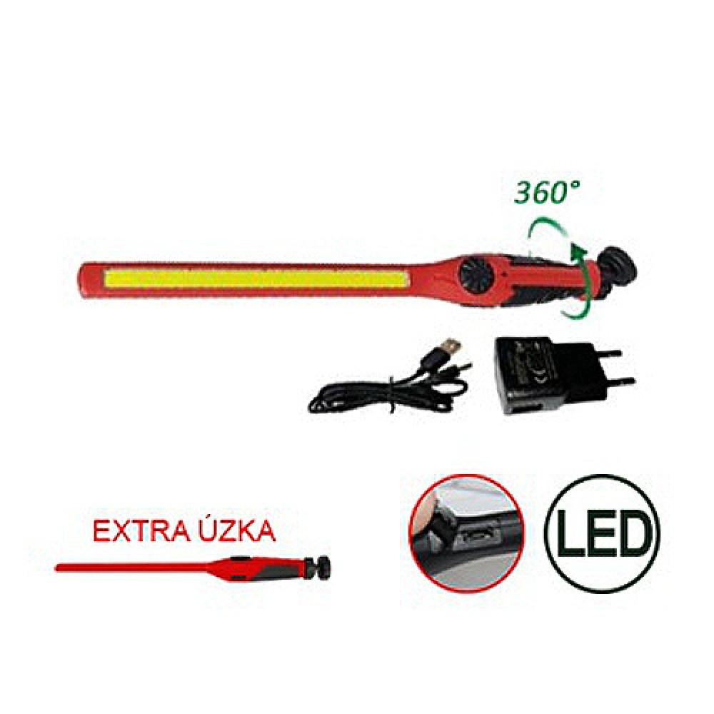 Lampa LED COB super cienka z magnesem TRIUMF czerwona