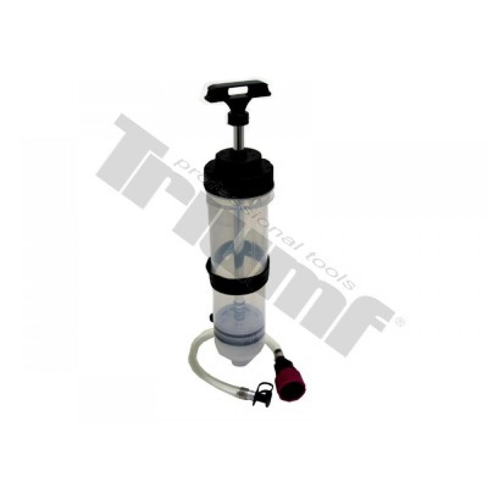 Pompa do płynów eksploatacyjnych, przeźroczysta, objętość 1500 ml, miarka, przewód TRIUMF PROFESSIONAL