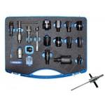 Zestaw adapterów do usuwania wtryskiwaczy, bez młotka 8 kg, 17 szt