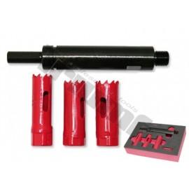 Zestaw frezów 17-19-20mm z przedłużką do wtryskiwaczy 4 częściowy TRIUMF