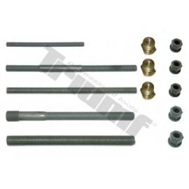 Zestaw gwintowanych prowadnic długości 250 mm, nakrętek i adapterów WALLMEK