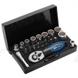 """Klucze nasadowe zestaw 28 narzędzi 1/4"""" BGS TECHNIC"""