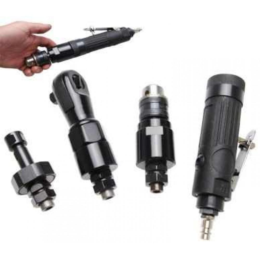 Uniwersalne narzędzie pneumatyczne wiertarka, grzechotka, szlifierka z trzpieniem 6 mm BGS TECHNIC