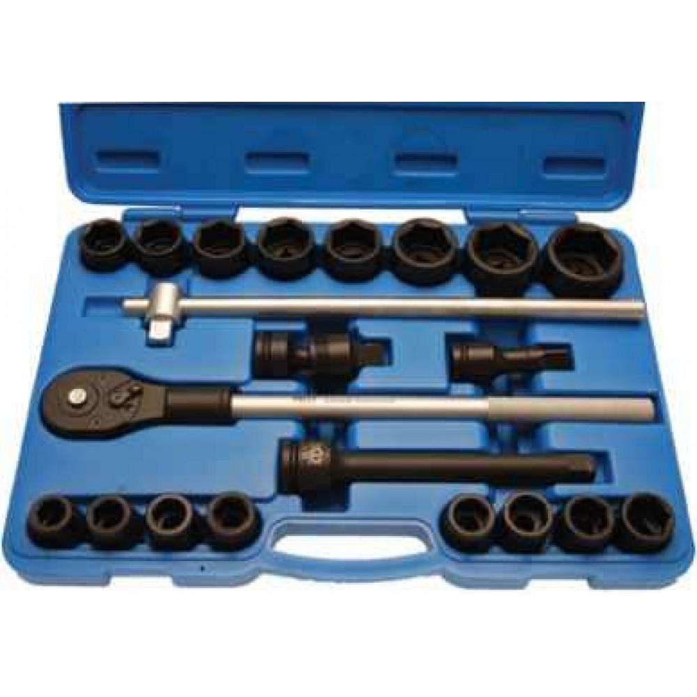"""Klucze nasadowe 21 narzędzi 3/4"""" CrMo BGS TECHNIC"""