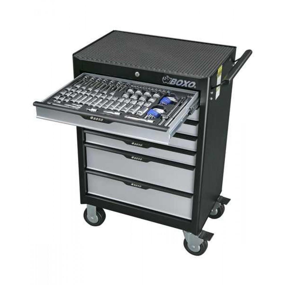 Szafka narzędziowa 7 szuflad z wyposażeniem 235 cz. BOXO