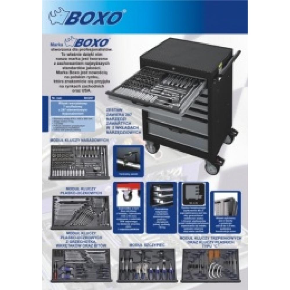 Szafka narzędziowa 7 szuflad z wyposażeniem 287cz. BOXO