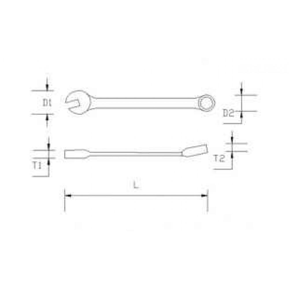 Klucze płaskie oczkowe krótkie zestaw 8 cz. 8-19mm BOXO