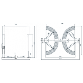 Podnośnik dwukolumnowy hydrauliczny TLT-240 SCA LAUNCH