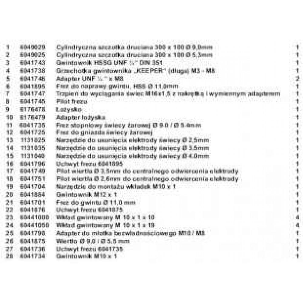 Wykręcanie urwanych świec żarowych M10X1 z tulejami do naprawy gwintów 28 cz. PICHLER