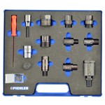 Adaptery do demontażu wtryskiwaczy - zestaw 12 części PICHLER