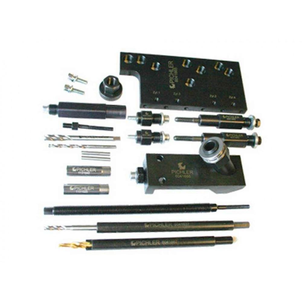 Wykręcanie urwanych świec żarowych M8x1 do Fiat, Opel 1,3 Multijet, 28 części PICHLER
