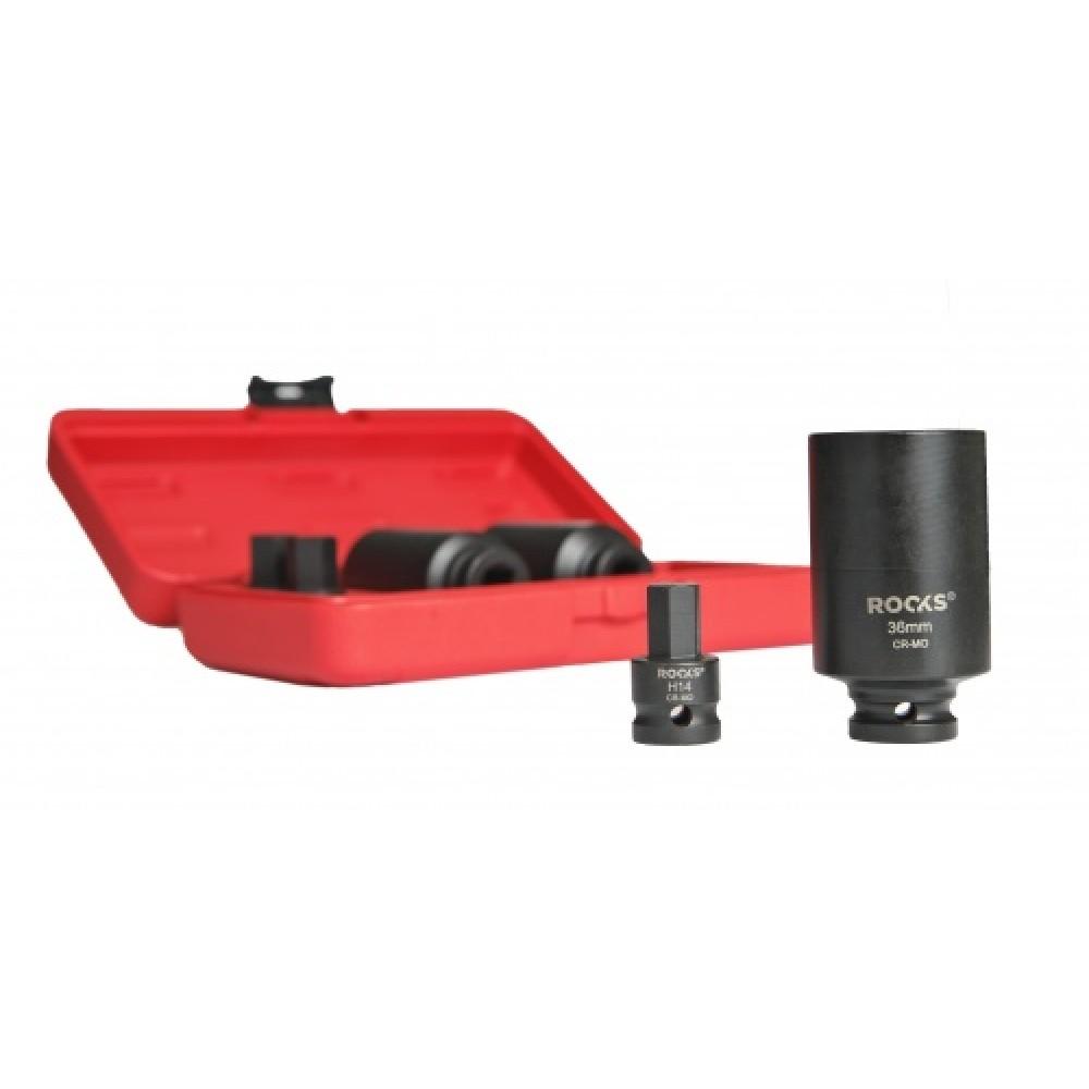 Nasadki do półosi napędowych 6 części,HEX14-17-19;12-pt:30-32-36mm ROOKS