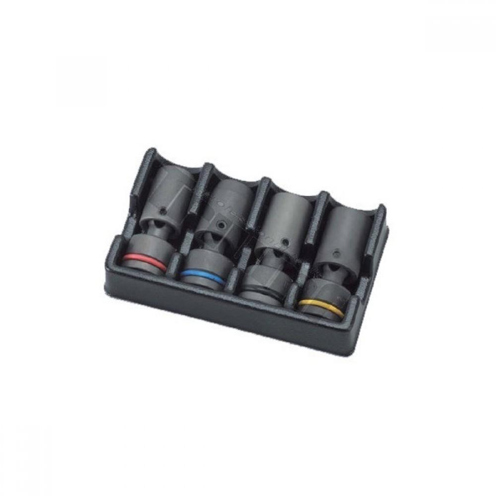 """Zestaw nasadek z elastycznym przegubem 1/2"""", 16,17,18,19mm, 4częściowy"""