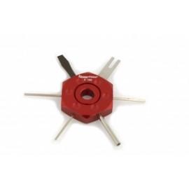 Przyrząd do zestyków elektrycznych w samochodach czerwony KAMASA