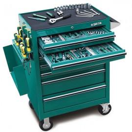 Szafka narzędziowa 7 szuflad z narzędziami 299 części szafka SATA