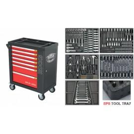 Szafka narzędziowa z wyposażeniem 232 części